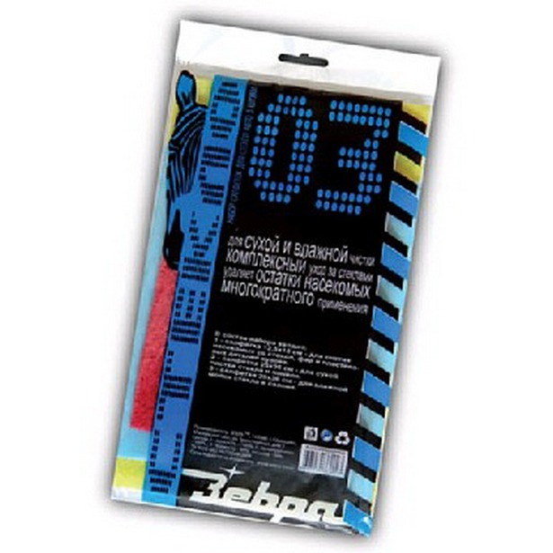 фото Набор салфеток для стекол Зебра Z-0023