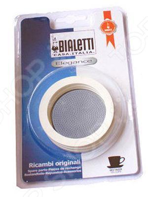Ремкомплект для кофеварки Bialetti на 10 п. 6005Аксессуары для кофеварок и кофемашин<br>Ремкомплект для кофеварки Bialetti на 10 п. 6005 сменные зап.части для кофеварок, в него входят уплотнитель и сито из алюминия. Используются для улучшения вкусовых качеств кофе, а также для увеличения срока службы аппарата. Диаметр уплотнителя: внешний 8,5 см, внутренний 7 см.<br>