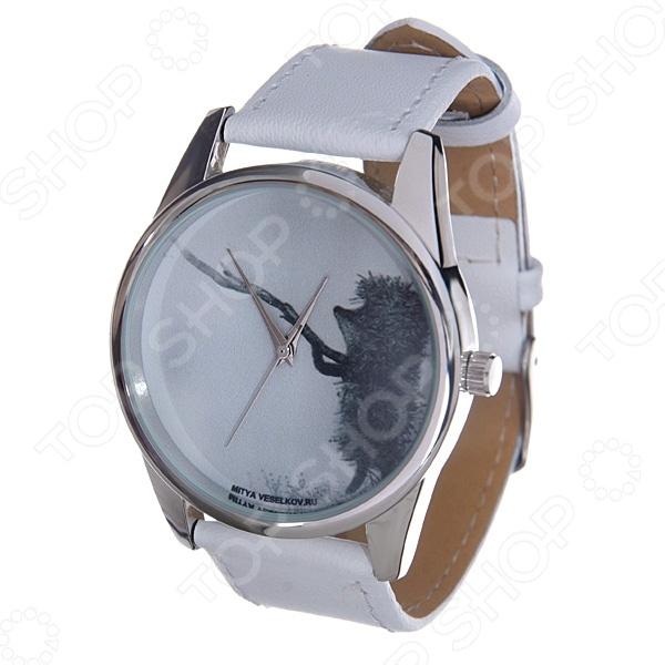 Часы наручные Mitya Veselkov «Ежик с веточкой» MV.White часы ежик с котомкой mitya veselkov часы механические
