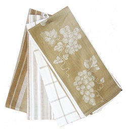 фото Комплект из 4-х полотенец BONITA «Виноград». Цвет: коричневый