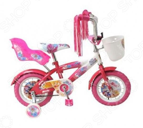 Велосипед детский Navigator ВН12074КК «WINX»Велосипеды подростковые и детские<br>Велосипед детский Navigator ВН12074КК WINX - создан специально для детей в возрасте от 2 до 4 лет. Надежную и прочную модель по-достоинству оценят как взрослые так и дети. Родителям непременно понравится качество модели. Рама велосипеда выполнена из высокопрочного металла, что значительно продлевает срок его службы. Высота руля и сиденья легко регулируется в соответствии с возрастом и ростом ребенка. Колеса, прошедшие компьютерную балансировку, оснащены бутиловыми шинами, которые хорошо удерживают воздух. В свою очередь вашей малышке непременно понравится яркий и красочный дизайн велосипеда, украшенный мишурой и изображениями любимых мультяшных героев. Научиться ездить на таком велосипеде не составит особого труда, ведь модель имеет дополнительные колеса для поддержки равновесия.<br>