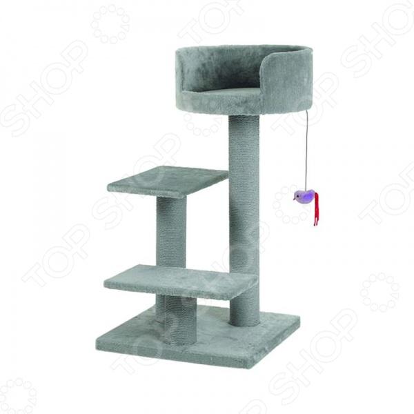 Комплекс для кошек с площадками и мышкой Beeztees Figo комплекс для кошек угловой с полками лестницей и канатом beeztees 405770