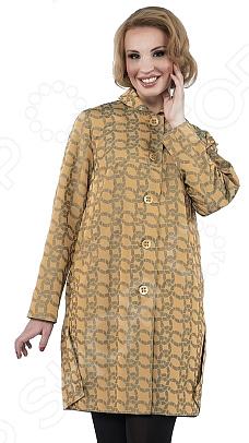 Плащ D`imma «Илана». Цвет: желтыйВерхняя одежда<br>Плащ D imma Илана прекрасный вариант для осенне-весеннего сезона. Невероятно стильный плащ подчеркнет женственность вашего образа. Можно отметить следующие особенности этого изделия:  Аккуратный небольшой воротничок.  Большие пуговицы центральной застежки.  Декоративная складка на спинке и боковые защипы по низу изделия.  Фактурная ткань с абстрактным рисунком. Ткань очень удобная и подойдёт даже для дождливой погоды 72 полиэстер, 18 нейлон, 10 вискоза; подкладка: 50 полиэфир, 50 полиэстер . Уникальная модель, которую можно приобрести только на нашем телеканале!<br>