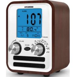 фото Радиобудильник Hyundai H-1626. Цвет: коричневый