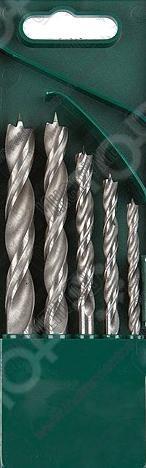 Набор сверл по дереву спиральных Kraftool 29400-H5Наборы сверл<br>Набор сверл по дереву спиральных Kraftool 29400-H5 двухленточные сверла, используемые в работе с древесиной. Спираль имеет специальную форму, что обеспечивает идеальный отвод продуктов сверления и препятствует перегреву. Усиленный стержень предохранит предмет от деформации при ударных нагрузках.  W-образная спираль.  Цилиндрический хвостовик.<br>
