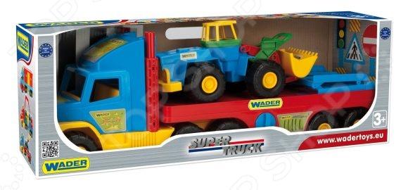 Машинка игрушечная Wader с трактором Super Truck игрушка wader super tech truck c грузовиком 36710