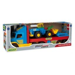 фото Машинка игрушечная Wader с трактором Super Truck