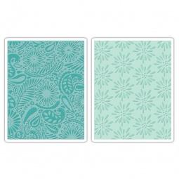 фото Набор форм для эмбоссирования Sizzix Textured Impressions Маргаритки и пейсли