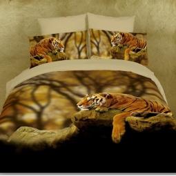 фото Комплект постельного белья Domomania Savannah. Satin Fotoprint. 2-спальный