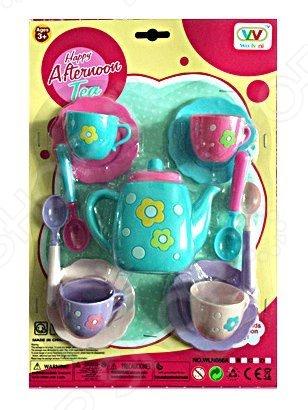Набор посуды игрушечный Shantou Gepai «Чаепитие» WLN686-BСюжетно-ролевые наборы<br>Набор посуды игрушечный Shantou Gepai Чаепитие WLN686-B станет замечательным подарком ребенку. Он содержит элементы, позволяющие разнообразить игровой процесс, сделать игру интереснее. Игровые наборы важны для детей, поскольку развивают фантазию, помогают научить ребенка доброте и заботе, почувствовать ответственность. В комплекте все самое необходимое для игры в чаепитие:  чайник;  ложки 4 шт;  чашки 4 шт;  блюдца 4 шт.<br>
