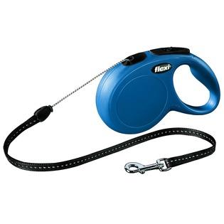 Купить Поводок-рулетка Flexi New Classic S. Цвет: синий