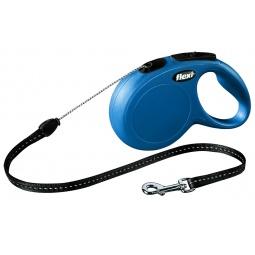 фото Поводок-рулетка Flexi New Classic S. Цвет: синий