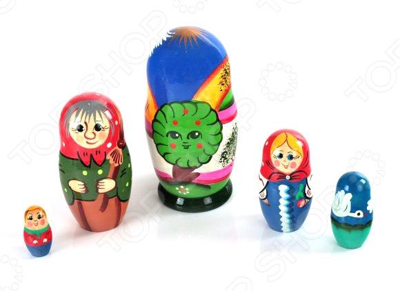 Матрешка БЭМБИ «Гуси-лебеди» россия матрешка 10 мест сказки