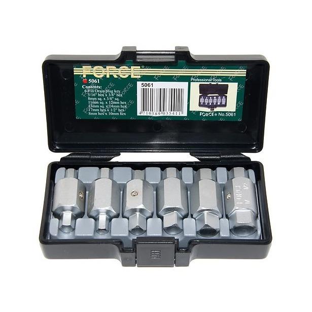 фото Набор ключей для маслосливных пробок Force F-5061