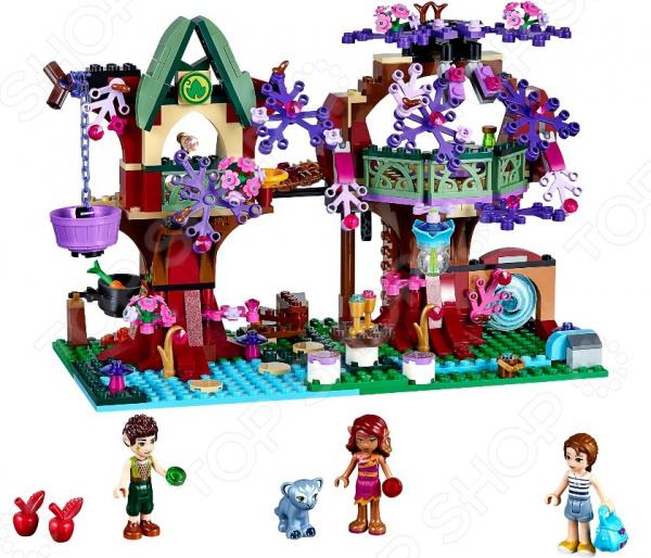 Конструктор LEGO Дерево эльфовКонструкторы LEGO<br>Не секрет, что конструкторы LEGO являются одними из самых популярных и продаваемых игрушек в мире. Компания LEGO Group начала свое существование еще 1932 году и до сих пор не сдает лидирующих позиций, ежедневно расширяя свое производство и сферу деятельности. Конструкторы этого бренда отличаются великолепным качеством исполнения и большим разнообразием игровых сюжетов. Конструктор Lego Дерево эльфов станет отличным подарком для вашего любимого чада и прекрасным дополнением к коллекции уже имеющихся игрушек LEGO. На этот раз малышу предоставится уникальная возможность перенестись вместе с Эмили Джонс через волшебный портал и познакомиться с эльфом огня Азари, по прозвищу Танец огня, и эльфом земли Фарраном, по прозвищу Тень Листвы. В игровой набор входят фигурки Эмили Джонс, Азари, Фаррана и пантеры Энки, деревья с домиками на ветках, подъемник, волшебный портал и т.д. Рекомендовано для детей в возрасте от 8-ми лет.<br>