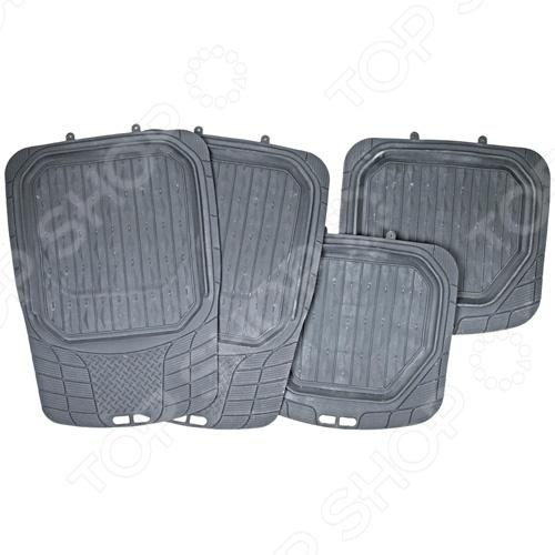 Набор ковриков Автостоп AB-4069Коврики в салон<br>Набор ковриков Автостоп AB-4069 прекрасно защитит салон вашего автомобиля от случайно вылитых жидкостей и загрязнений в любое время года. Они изготовлены из мягкого, легкого и эластичного материала и не имеют запаха. Кроме того, качественные оригинальные коврики обеспечат комфорт ногам водителя и пассажиров. В набор входят 4 резиновых коврика размером 71х49,5 см и 49х46,5 см.<br>