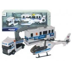 фото Набор игровой Autotime SCANIA TEAM «Милиция с вертолетом»