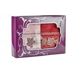 фото Набор из 2-х полотенец Primavelle Lea. Размер: 50х90 см. Цвет: бордовый, сухая роза