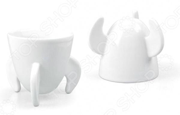Набор из 2-х кофейных пар Fred&amp;amp;Friends Blast OffЧайные и кофейные пары<br>Набор из 2-х кофейных пар Fred Friends Blast Off изготовлен из высококачественного фарфора и выполнен в оригинальном дизайне. Посуда из этого материала позволяет максимально сохранить полезные свойства и вкусовые качества воды. Заварите крепкий, ароматный кофе в представленной модели, и вы получите заряд бодрости, позитива и энергии на весь день! Классическая форма и универсальная цветовая гамма изделия позволят наслаждаться любимым напитком в атмосфере еще большей гармонии и эмоциональной наполненности. Набор из 2-х кофейных пар Fred Friends Blast Off является прекрасным подарком для ваших любимых, родных и близких.<br>