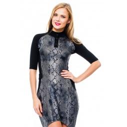 фото Платье Mondigo 8664. Цвет: черный. Размер одежды: 46