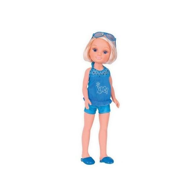 фото Кукла Famosa Nancy с короткой стрижкой в синем костюме