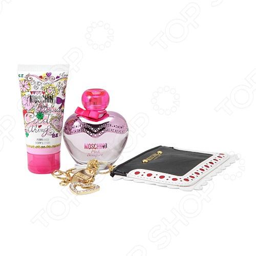 Набор: туалетная вода для женщин, лосьон для тела и кошелек для мелочи Moschino Pink Bouquet, 50 мл мелочи для дома