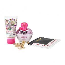 фото Набор: туалетная вода для женщин, лосьон для тела и кошелек для мелочи Moschino Pink Bouquet, 50 мл