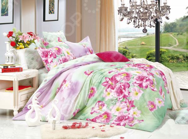 Комплект постельного белья La Noche Del Amor А-6871,5-спальные<br>Треть своей жизни мы проводим во сне и непозволительно доверить этот процесс обычному пледу или одеялу. Внешний вид, самочувствие и настроение человека напрямую зависит от хорошего сна, на который влияют многие факторы, в том числе качество постельного белья. К его выбору следует подойти со всей серьезностью, так как это одна из тех самых важных мелочей, от которой зависит здоровый отдых. Огромный ассортимент постельного белья La Noche Del Amor приятно удивит вас новыми моделями и красками. Дизайнерское постельное белье в вашем доме Комплект постельного белья La Noche Del Amor правильное решение по оформлению вашей спальни! Это белье поможет в создании атмосферы домашнего уюта и покоя. Нежные прикосновения мягкого материала к коже сделают сон и момент пробуждения приятными. Уникальный дизайн постельного белья разработан в соответствии с последними тенденциями мировой моды. К уникальному узору и рисунку подбираются лучшие оттенки красок, которые впишутся в любой интерьер. Этом комплект подчеркнет дизайн вашей спальни и будет выгодно смотреться в любом стиле интерьера. Данный комплект сочетает в себе лучшие качества, что автоматически делает его востребованным и популярным:  привлекательный дизайн;  отменное качество материалов;  высокий уровень прочности.  Эта модель станет великолепным выбором для тех, кто хочет сделать другу или родственнику подарок, который долгие годы будет радовать своего владельца. Выбираем лучшее для спальни Комплект выполнен из сатина класса люкс , который давно завоевал сердца миллионов людей. Еще в древности этим материалом восхищались персидские цари и придворные, называя его атласом. Это благородная ткань с многовековой историей. Ее делают из тончайшей хлопковой пряжи, которую получают из самого лучшего хлопка. Это позволило переплести их более плотно, что повысило уровень прочности и защиты от механических повреждений. Это 100 хлопок, обладающий необычной мягкостью и блеск