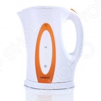 Чайник Magnit RMK-2194Чайники электрические<br>Удобный и простой в использовании чайник Magnit RMK-2194 изготовлен из термостойкого пластика. Благодаря мощности в 1850-2200 Вт и нагревательному элементу открытого типа, быстро вскипятит воду объемом до 2 литров. На рынке бытовой техники этот прибор пользуется неизменной популярностью благодаря высокому качеству, безопасности и удобству в использовании. Модель оснащена индикатором включения выключения, шкалой уровня воды и съемным фильтром против накипи. Цоколь с центральным контактом позволяет поворачивать прибор на 360 . Кабель удобно хранить в подставке. В целях безопасности имеется функция автоматического отключения при закипании и защита от перегрева. Благодаря стильному дизайну, чайник Magnit RMK-2194 впишется в любую современную кухню.<br>