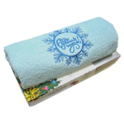 фото Полотенце подарочное с вышивкой TAC Snowflake. Цвет: бирюзовый
