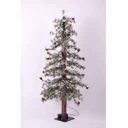 Купить Ель искусственная Crystal Trees «Закарпатская с маленькими шишками»
