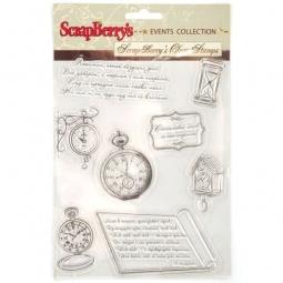 фото Набор штампов прозрачных ScrapBerry's Часы и время