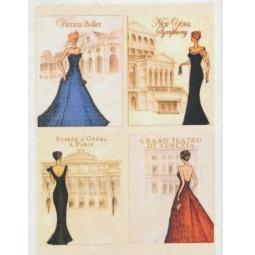 Купить Карта декупажная Кустарь «Театральные дамы»