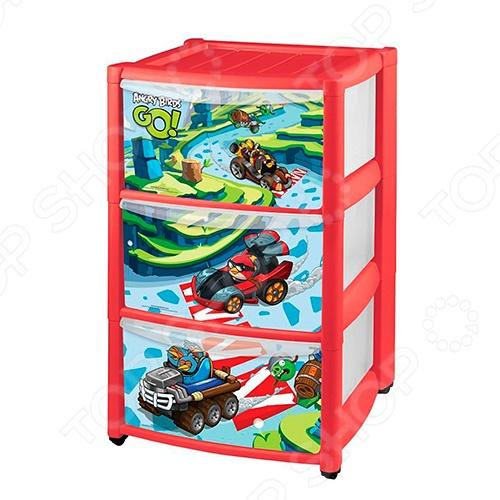 фото Комод детский Бытпласт Angry Birds GO, Комоды детские
