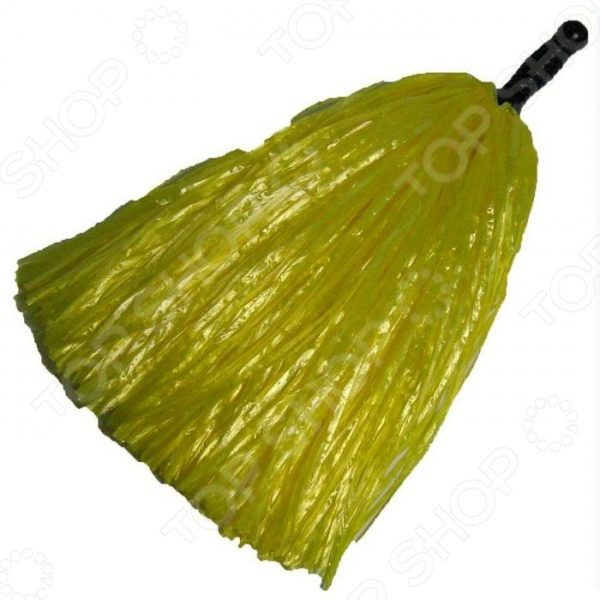Помпон для черлидинга пластиковый A140-3    /Желтый