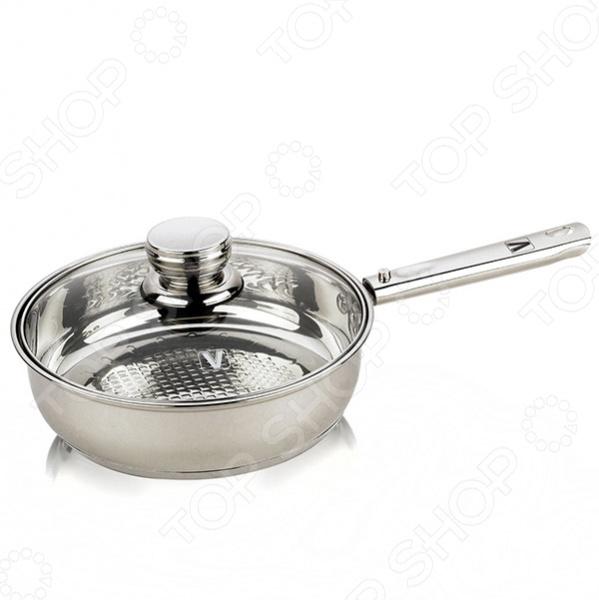 Сковорода со съемной ручкой Vitesse Classiс VS-7202Сковороды<br>Сковорода со съемной ручкой Vitesse Classiс VS-7202 стильная, современная и невероятно функциональная. Сковорода изготовлена из высококачественной нержавеющей стали 18 10 с зеркальной полировкой. Многослойное термоаккумулирующее дно. Внутренняя градуировка. Благодаря съёмной ручке, такую сковороду можно использовать в духовом шкафу. Крышка изготовлена из жаропрочного стекла. Можно мыть в посудомоечной машине.<br>