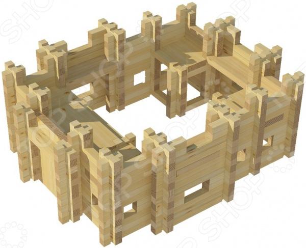 Конструктор деревянный Лесовичок «Крепость №2»Деревянные конструкторы<br>Конструктор деревянный Лесовичок Крепость 2 это отличный конструктор с помощью которого он сможет построить миниатюрную модель крепости. В комплекте есть подробная инструкция, которая позволит все делать четко и последователь. Детали отлично скрепляются между собой, кроме того, они выполнены из дерева и абсолютно безопасны для детского организма. Сборка такого конструктора поможет развить конструкторские и инженерные навыки, развить логическое и пространственное мышление, фантазию и мелкую моторику рук.<br>
