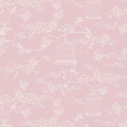 фото Отрез ткани Tilda Тойле с клеткой. Цвет: розовый