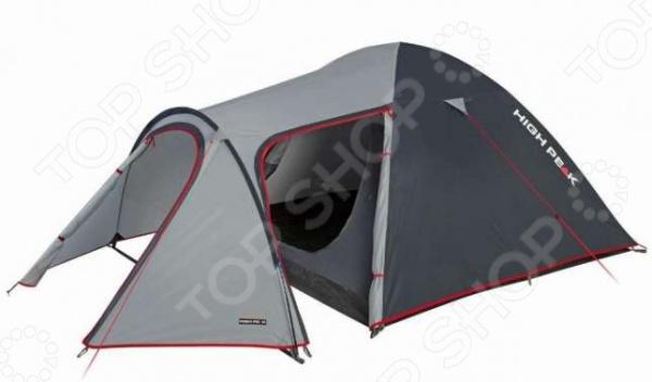 Палатка High Peak Kira 4Палатки<br>Палатка High Peak Kira 4 комфортабельная палатка, рассчитанная на четырех человек. Независимо от того, собрались вы за город на выходные или же решили отправиться в поход, необходимо временное уютное жилище, которое укроет от непогоды и создаст все необходимые условия для проживания. Данная модель палатки отличается надежностью и легкостью установки, она отлично подойдет и для рыбалки, и для охоты, и для простого отдыха. Конструкция палатки представлена прочным каркасом из стеклопластика, который обеспечивает устойчивость конструкции даже при сильном ветре. Дополнительную страховку осуществляют пять штормовых оттяжек. Герметично проклеенные швы и специальная водостойкая пропитка тента обеспечивают комфортные условия проживания в любую погоду. Благодаря выносной дуге площадь тамбура значительно расширяется, позволяя использовать пространство в качестве летней кухни или небольшого склада. В сложенном виде палатка занимает совсем немного места, поэтому с ее транспортировкой у вас точно не возникнет проблем. Вентиляционное окно расположено в верхней части тента. Внутри палатки вы также найдете вместительные карманы для различных мелочей. В хорошую погоду вы можете установить только внутреннюю палатку. Если же в походе вас застанет дождь или сильный ветер, поможет дополнительный внешний тент. В любом случае, весь процесс установки палатки займет всего 5-7 минут.<br>
