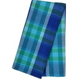 фото Полотенце вафельное BONITA «Шотландка. Лазурь»