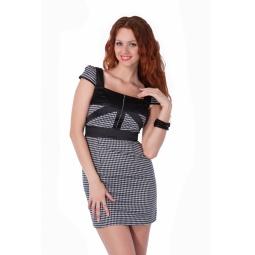 фото Платье Mondigo 9654. Цвет: черный. Размер одежды: 42