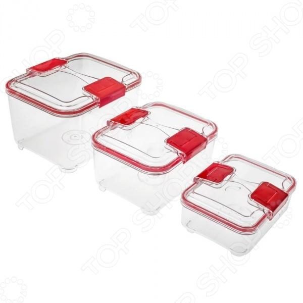 Набор контейнеров STATUS RC SetКонтейнеры для продуктов и ланч-боксы<br>STATUS RC Set это удобный и простой в использовании набор контейнеров. Представленный набор предназначен для хранения пищевых продуктов, поэтому отлично подойдет как для использования дома, так и в дороге. Крышки с защелками плотно прилегают к стенкам емкостей, что помогает сохранить первоначальную свежесть блюд. Контейнеры STATUS RC Set изготовлены из абсолютно безопасного материала, который не содержит бисфенол А BPA-Free . Каждое изделие можно использовать для хранения пищи в холодильнике или морозильной камере до -21 C . Кроме того, за контейнерами легко ухаживать, т.к. их можно мыть в посудомоечной машине. Допускается разогрев блюда в микроволновой печи без крышки . Пустые контейнеры складываются для хранения по типу матрешки, занимая минимум места.<br>