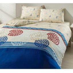 фото Комплект постельного белья TAC Emma. 1,5-спальный. Цвет: голубой