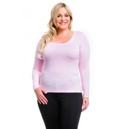 фото Кофта Mondigo XL 436. Цвет: бледно-розовый. Размер одежды: 52