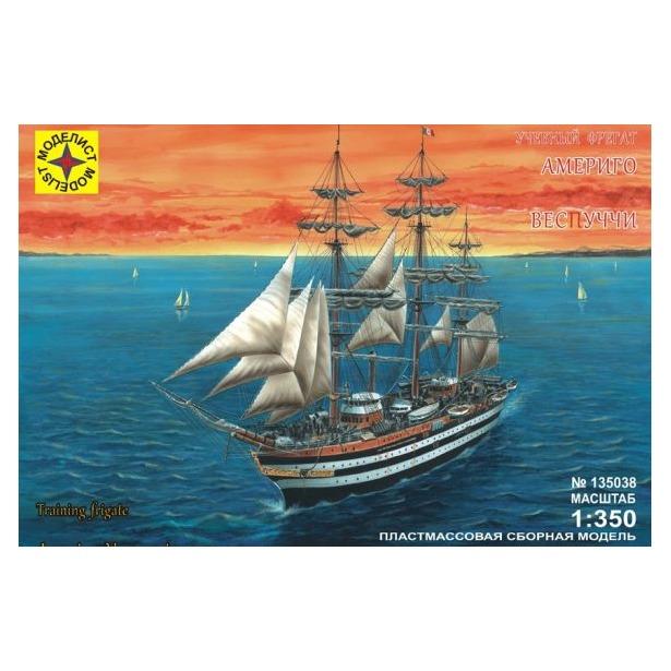 фото Сборная модель морского судна Моделист учебный фрегат «Америго Веспуччи»