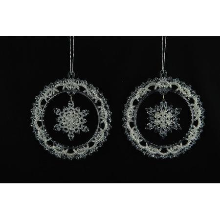 Купить Елочное украшение Crystal Deco «Снежинка-венок». В ассортименте