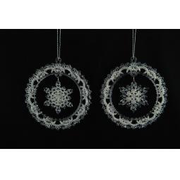 фото Елочное украшение Crystal Deco «Снежинка-венок». В ассортименте