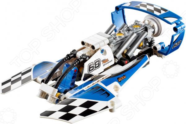 Конструктор игрушечный LEGO «Гоночный гидроплан»Конструкторы LEGO<br>Конструктор игрушечный Lego Гоночный гидроплан прекрасный подарок для юного конструктора. Комплект содержит детали, с помощью которых можно собрать быструю лодку для гонок в ванной. Сборка не только развлекает, но и помогает развивать моторику рук, логическое мышление и воображение ребенка. Все детали выполнены из нетоксичных материалов, поэтому полностью безопасны. Рекомендуется для детишек от 5 лет и старше. Преимущества:  Множество оригинально выполненных элементов.  Увлекательный процесс сборки.  Качественный материал.<br>