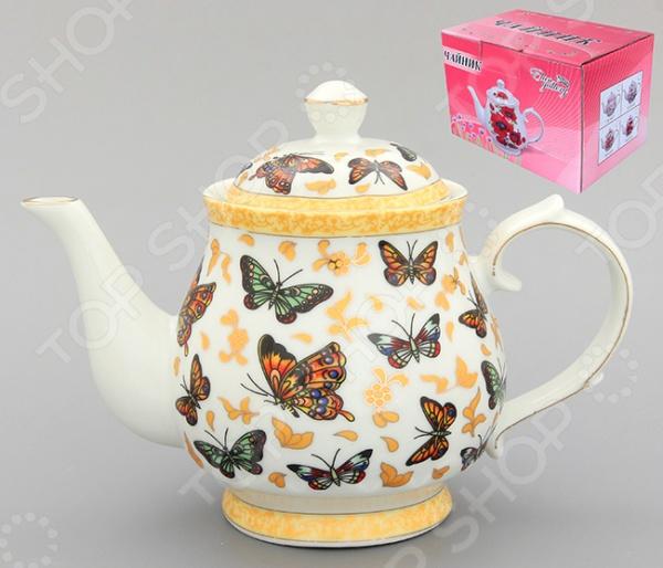 Чайник заварочный Elan Gallery «Бабочки»