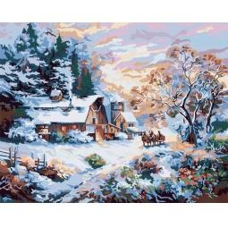 Купить Набор для рисования по номерам PLAID «Снежный вечер»